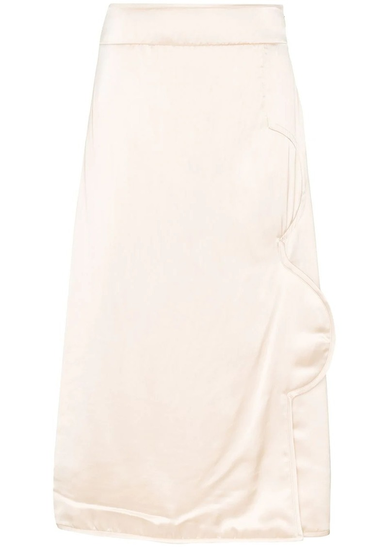Jil Sander structured-detail midi skirt