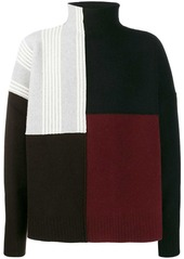 Jil Sander patchwork sweater