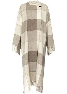 Jil Sander oversized check robe