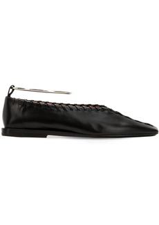 Jil Sander 10mm Stitched Leather Flats