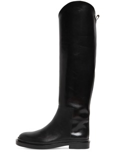 Jil Sander 20mm Leather Tall Boots