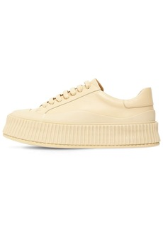 Jil Sander 40mm Leather Low Top Sneakers