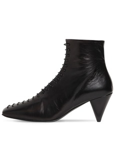 Jil Sander 70mm Lace-up Leather Boots