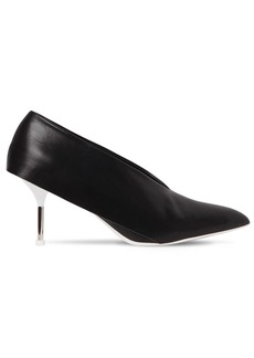 Jil Sander 70mm V Cut Leather Pumps