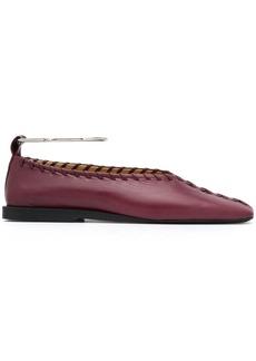 Jil Sander ankle bracelet ballerina shoes