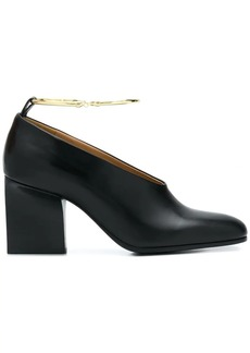 Jil Sander ankle hoop pumps