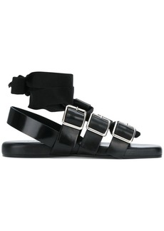 Jil Sander ankle-wrap buckled sandals