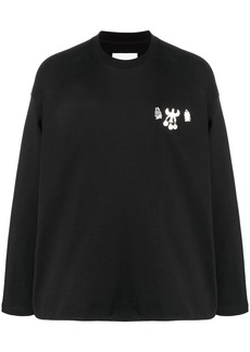 Jil Sander appliqué-detail long-sleeve T-shirt