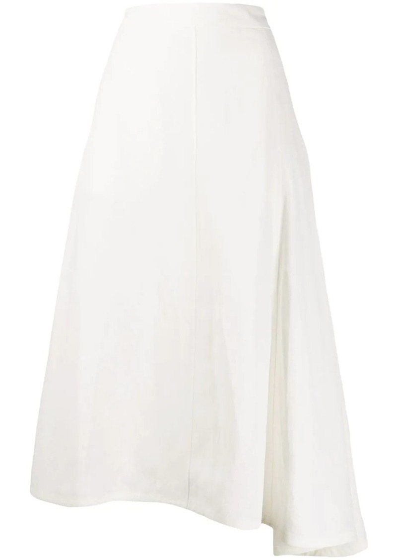 Jil Sander asymmetric A-line skirt