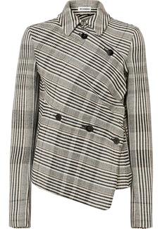 Jil Sander Asymmetric Checked Wool-blend Jacket