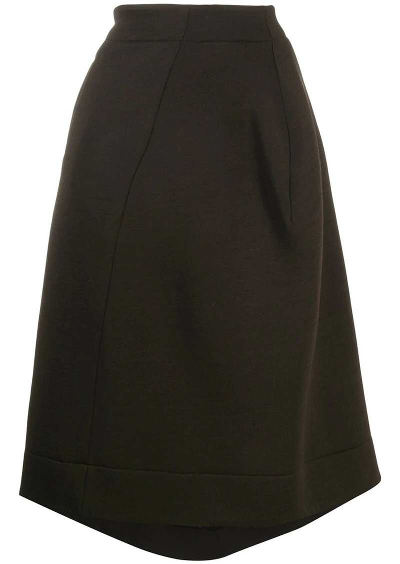 Jil Sander asymmetric flared skirt