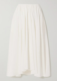 Jil Sander Asymmetric Pleated Voile Midi Skirt