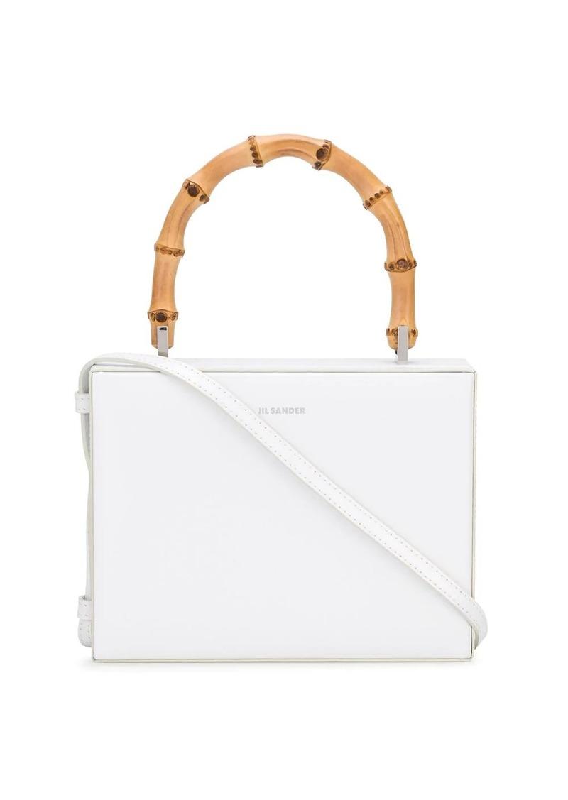 bamboo handle boxy shoulder bag