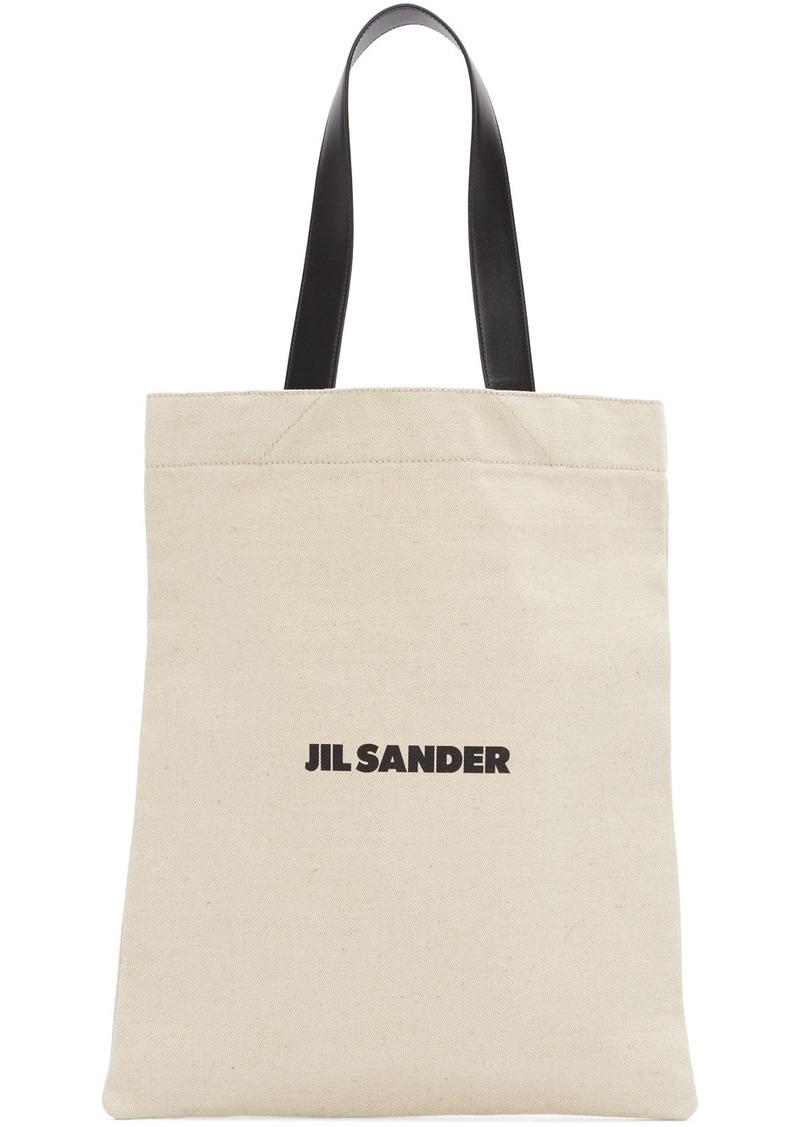 Jil Sander Beige Flat Shopper MD Tote