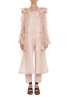 Jil Sander Below-the-Knee Anorak Jacket with Drawstrings