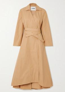 Jil Sander Belted Cotton-poplin Wrap Dress