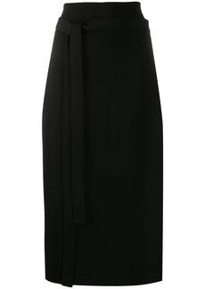 Jil Sander belted knit pencil skirt