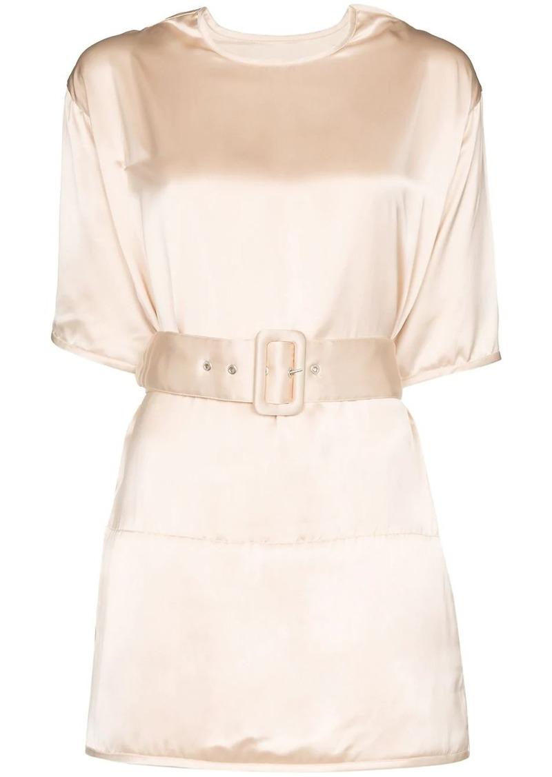 Jil Sander belted satin blouse