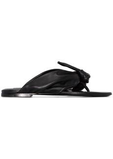 Jil Sander bow detail sandals