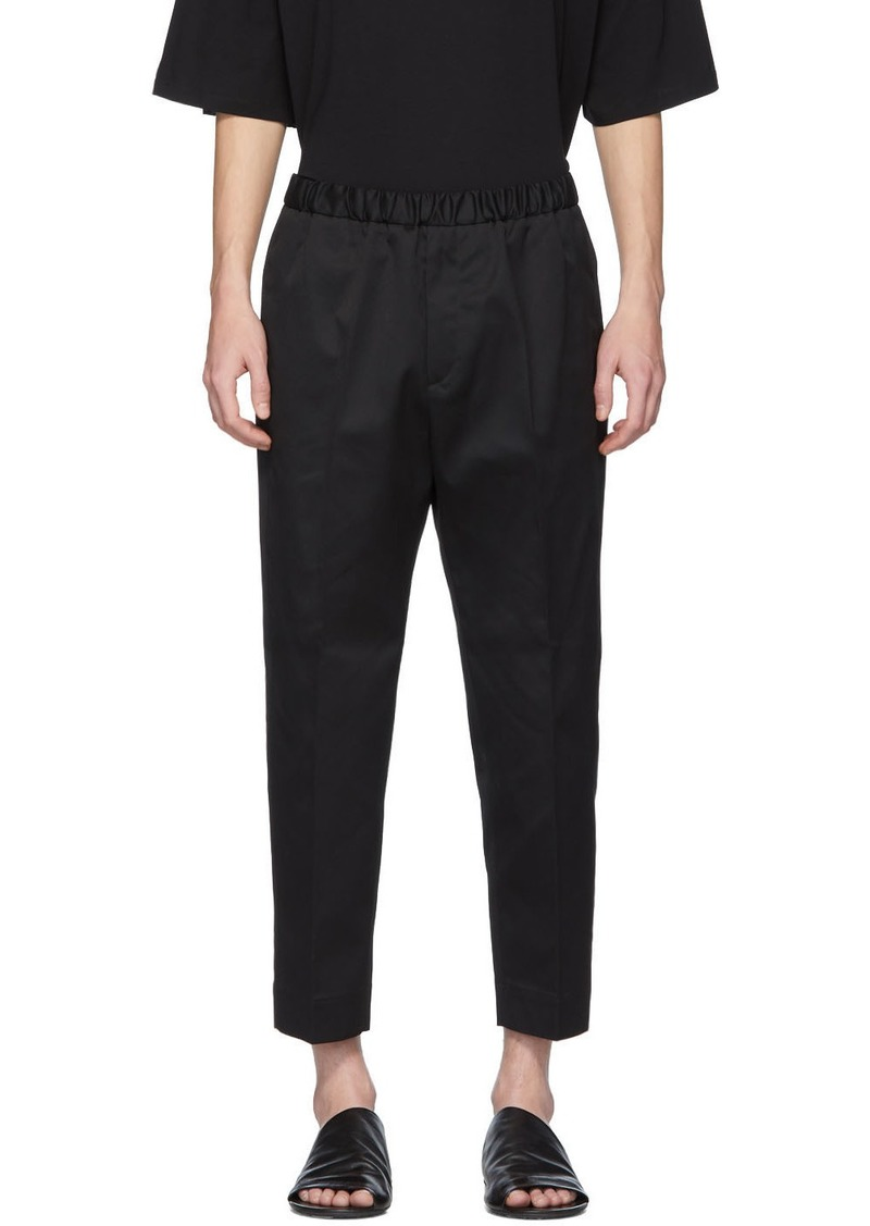 Jil Sander Black Cotton Twill Trousers