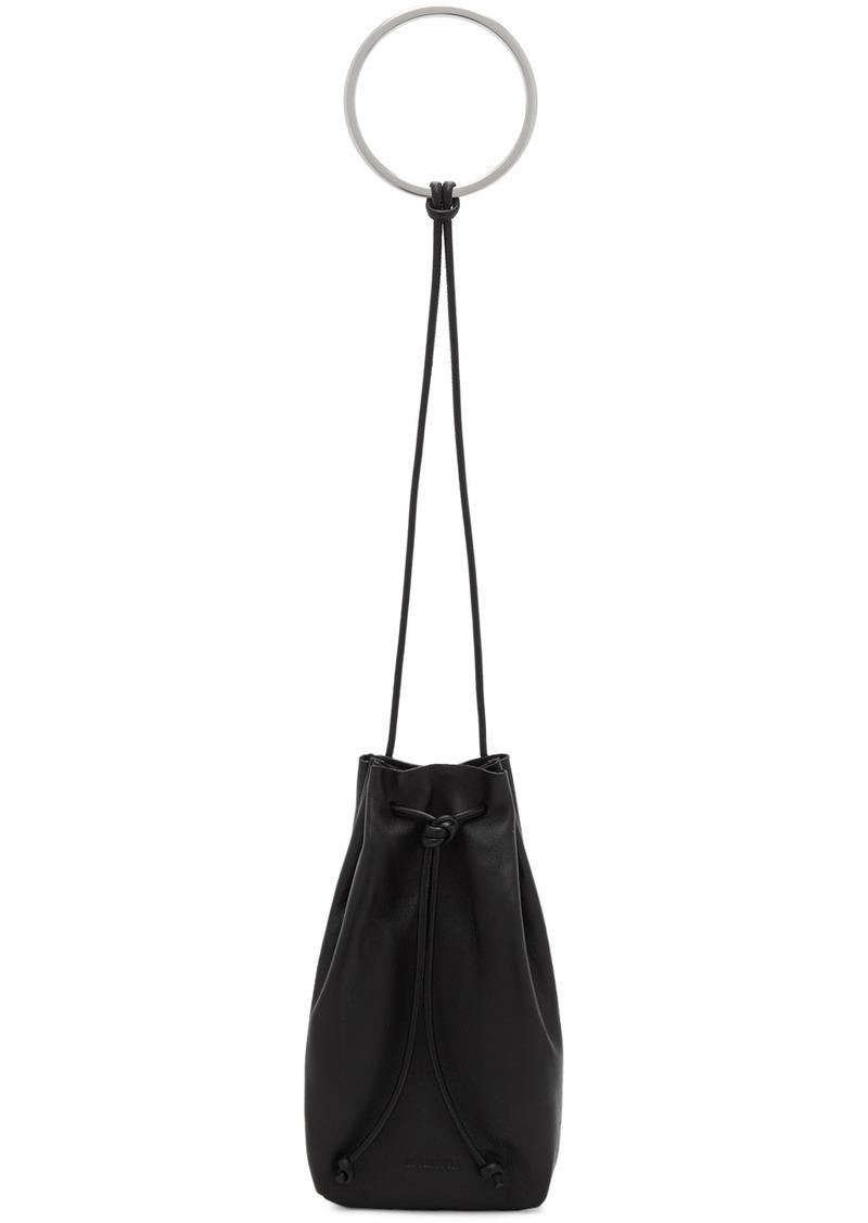 Jil Sander Black Small Bracelet Drawstring Pouch