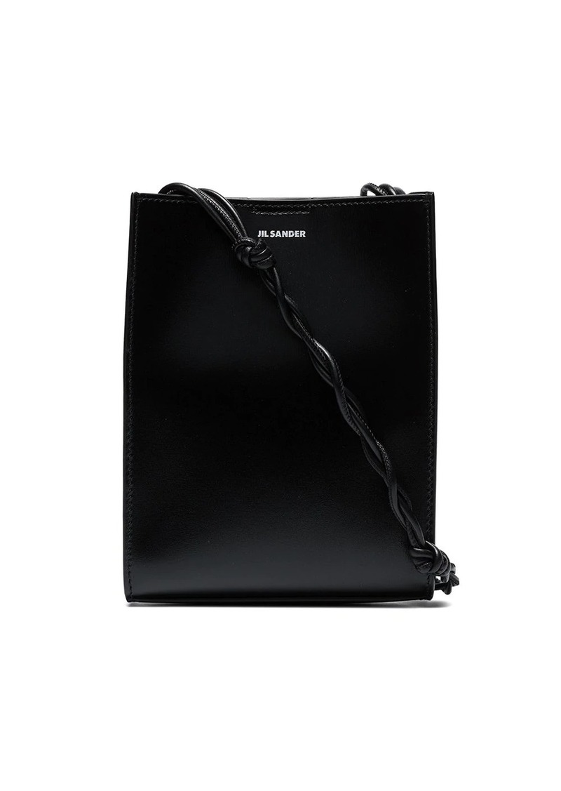 Jil Sander Black Tangle leather cross body bag