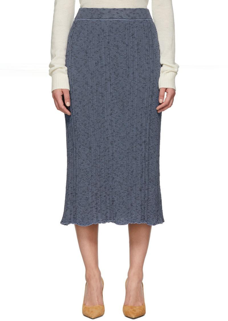 Jil Sander Blue Rib Knit Skirt