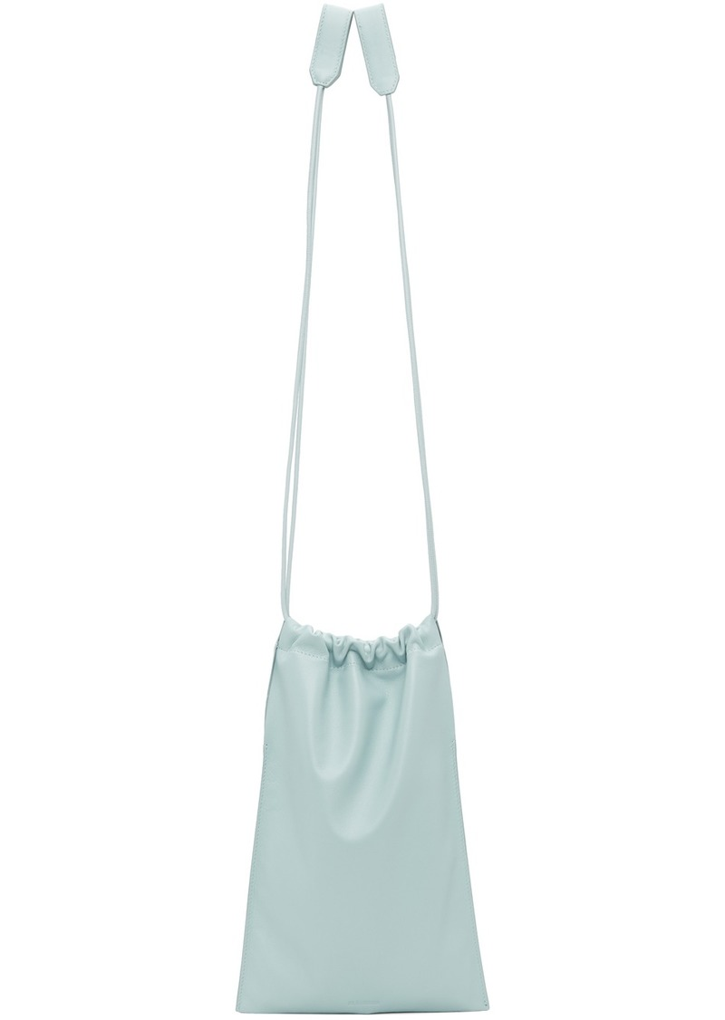 Jil Sander Blue XS Flat Drawstring Bag