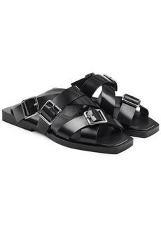 Jil Sander Buckle Strap Leather Sandals