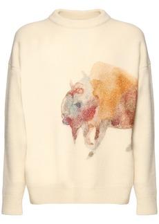 Jil Sander Printed Wool Knit Sweater
