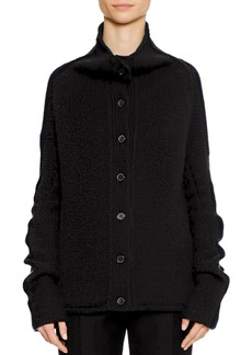 Jil Sander Button-Front 3-Gauge Cashmere Cardigan Sweater