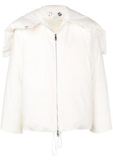 Jil Sander buttoned hood padded jacket