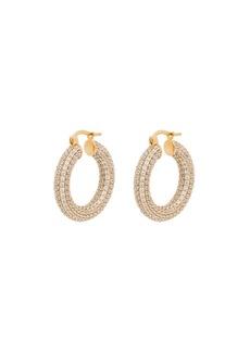 Jil Sander chain hoop earrings
