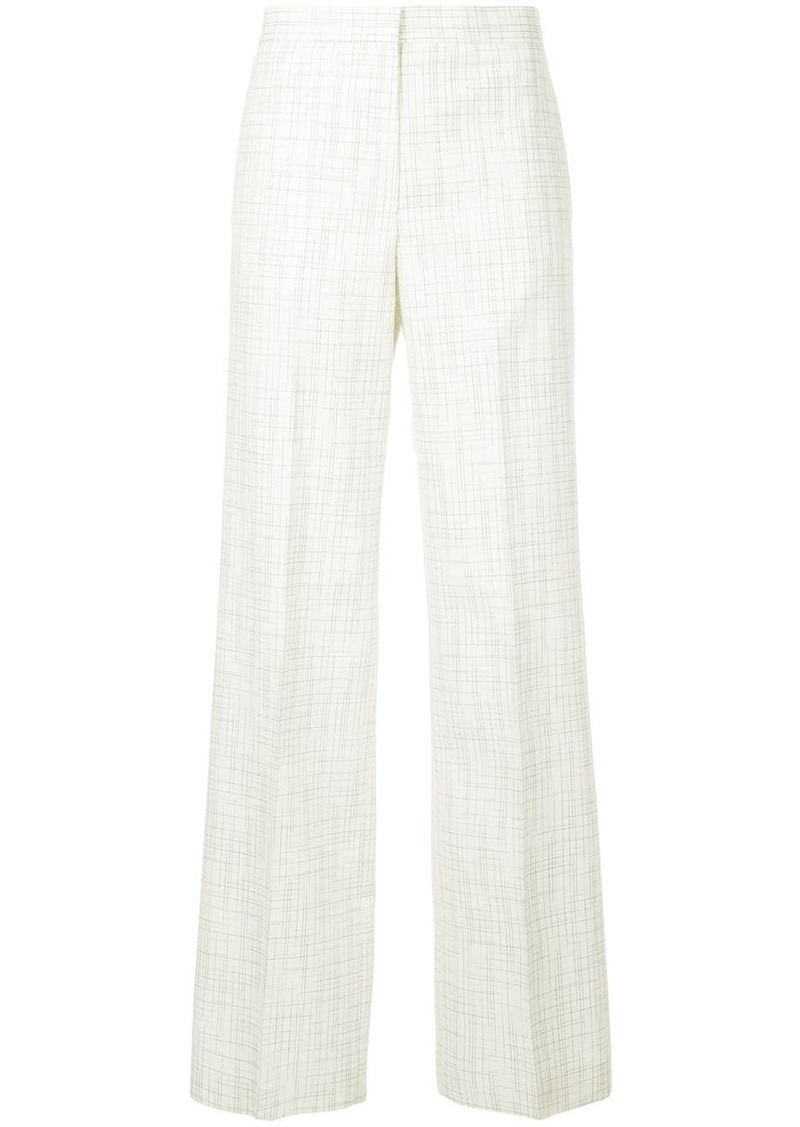 Jil Sander check print trousers