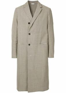Jil Sander checked long coat