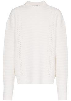 Jil Sander Chunky crew neck virgin wool sweater