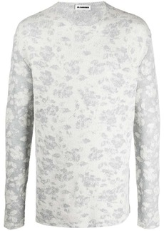 Jil Sander jacquard motif jumper