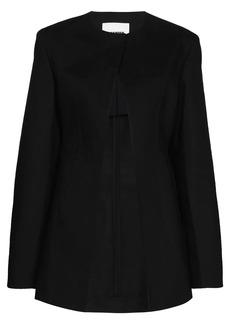 Jil Sander collarless tailored jacket