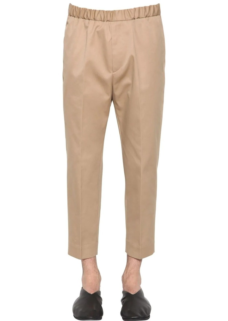 Jil Sander Compact Cotton Blend Drill Pants