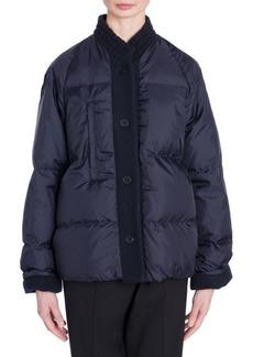 Jil Sander Contrast Button Puffer Coat