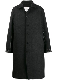 Jil Sander contrast panelled coat