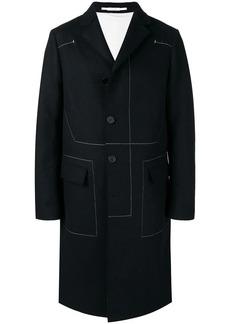 Jil Sander contrast stitch coat