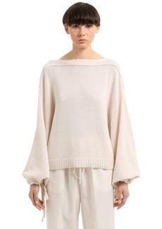 Jil Sander Cotton, Cashmere & Silk Blend Sweater