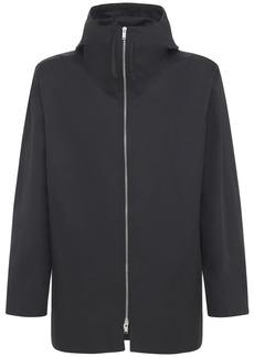 Jil Sander Cotton Gabardine Hooded Zip Jacket