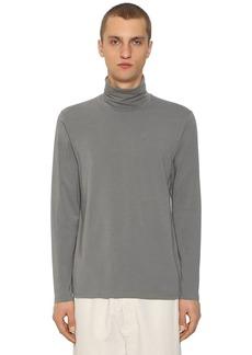 Jil Sander Cotton Long Sleeve Turtleneck T-shirt