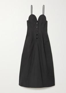 Jil Sander Cotton-poplin Midi Dress