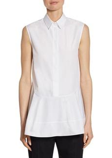 Jil Sander Cotton Poplin Ruffle Shirt
