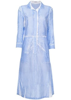 Jil Sander creased effect shirt dress