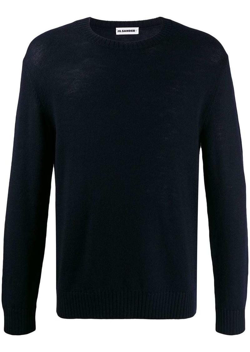 Jil Sander crew neck fine knit jumper