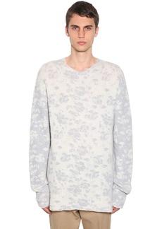 Jil Sander Crewneck Wool Knit Jacquard Sweater